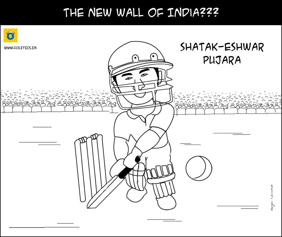 The new Wall of India??? Cheteshwar Pujara compiles maiden test century